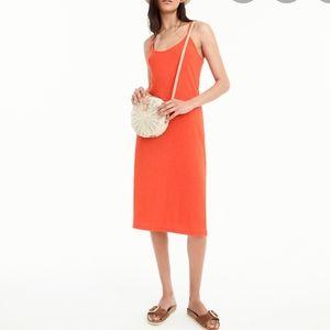 JCrew Strappy Knit Midi Dress Orange Criss-Cross M